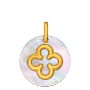 Médaille Nacre croix romane