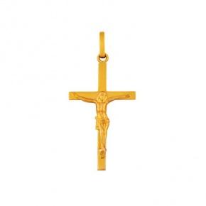Pendentif croix latine avec christ