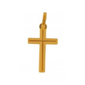 Pendentif croix fil biseauté