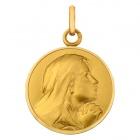Médaille Vierge en contemplation