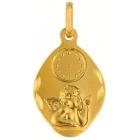 Médaille Ange horloge