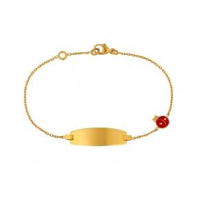Bracelet coccinelle laque