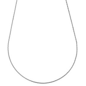 Chaine forcat fine or blanc 18 carats - 40cm 1.5gr