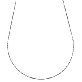 Chaine forcat fine or blanc 18 carats - 45cm 1.25gr