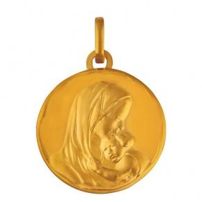Médaille Vierge à l'Enfant bord cachet
